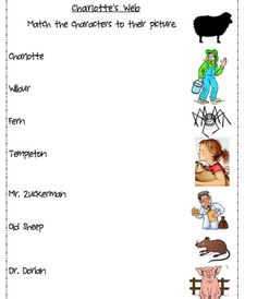 Charlotte's Web: Use to write description of each character
