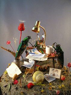 GIF- insect diorama (custom made for Chris Sanders)  by Lisa Wood, 2014, lisawoodcuriosities.com