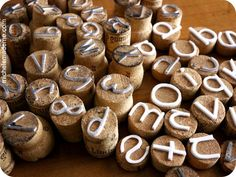 Cork Stamps - Cool! it would take me 18 yrs to get enough wine corks to make the alphabet!