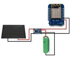 Esp8266 Am 18650 Mit Solarzelle Betreiben Sonnenkollektor Arduino Projekte Solar
