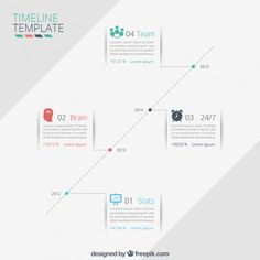 Timeline template Free Vector