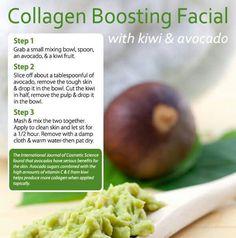 DIY Collagen Boosting Facial Recipe with Kiwi & Avocado