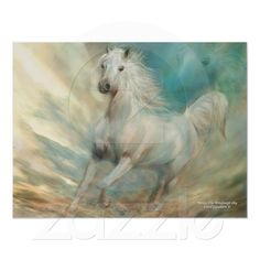 Across A Windswept Sky - Horse Art Gift Box for keepsakes, jewelry, and trinkets by Carol Cavalaris. Cute Horses, Beautiful Horses, Creation Photo, Sky Art, Thing 1, Equine Art, Illustrations, Poster Prints, Art Prints