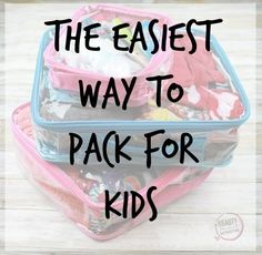 How to pack for two kids in only one bag. Easier packing tips for siblings. Remove stress from your vacation with kids with these packing hacks.