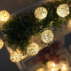 Type: LED rattan ball light string. Light material: Rattan. 1 x Set rattan ball LED light string (Batteries not included). Ideal for Christmas, wedding, ceremony, and other festivals and events. Perfect to decorate your house, room, garden, tree, etc. | eBay!