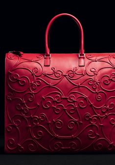 Valentino- mostly I don`t like this kind of bags, but this is perfection - red with filigree ornaments. Issues and Inspiration on http://fancytemple.com/blog Womens Fashion Follow this amazing boards and enjoy http://pinterest.com/ifancytemple