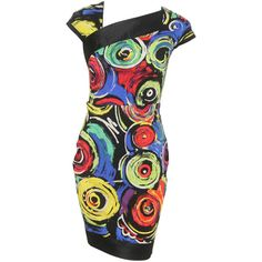 Pre-owned Gianni Versace Pop Art Printed Ensemble Spring 1991 (£1,710) ❤ liked on Polyvore featuring suits outfits and ensembles e versace
