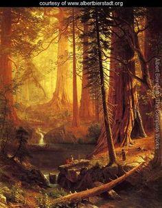 Giant Redwood Trees of California  Painted by:Albert Bierstadt