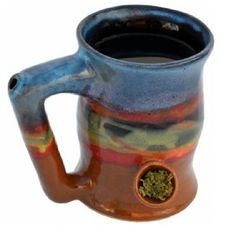 it's a match made in heaven! http://thestateofweed.com/bake-and-wake-coffee-cup/