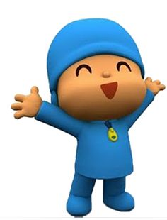 """Pocoyo -- roughly translated from Spanish as """"little me."""" He's a cute, animated boy full of curiosity who loves to play games and discover new things. Silly Images, Cartoon Images, Bing Images, 4 Year Old Boy, Knitting Humor, Character Cakes, Animation Background, Cartoon Design, Cute Characters"""