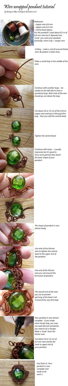 Beautiful wire wrapping tutorial.
