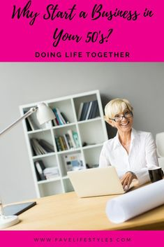 """You're in your 50s+, and you're thinking about starting a business. Are you crazy? No, you're just passionate and good for you! There's never been a better time to follow your dream, and there are several good answers to the question, """"Why start a business in your 50s?"""" 