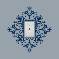 Vinyl Wall Decal, Scroll Damask Light Switch Embellishment- Single, Sticker, Wall Graphic, item 30024 from byrdiegraphics on Etsy. Light Switch Covers, Light Switch Plates, Vinyl Wall Decals, Wall Stickers, Sticker Mural, Decorating Tips, Home Projects, Stencils, Stencil Diy