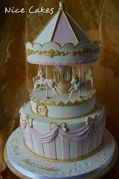 Looking for cake decorating project inspiration? Check out Carousel cake by…