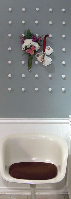 Drawer pull wall - hang anything you want to, change it up!