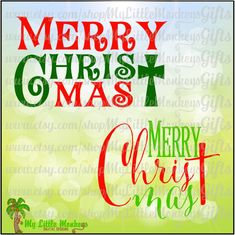 Merry CHRIST mas Print and Script Designs Digital Clipart Instant Download Full Color SVG Png Eps DXF file High Quality 300 dpi Jpeg - pinned by pin4etsy.com