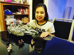 After more than 2 years Kotoko finally built Millennium Falcon Lego set!!! It was Christmas present 2015!