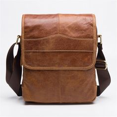 c3eb95108f36 Men Vintage Cowhide Leather Business Handbag Crossbody Messenger Shoulder  Bag  fashion  clothing  shoes