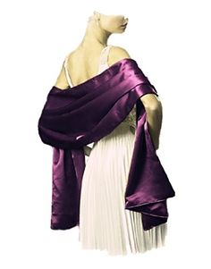 LondonProm @ Different 200cm *75cm colour Sofe satin shawl Wedding Bride Bridesmaids Prom Dress Satin Sash Shawl Stole Wrap (200cm *75cm, Grape) LondonProm http://www.amazon.co.uk/dp/B00NWRDYQU/ref=cm_sw_r_pi_dp_TI.kub03W7NM5
