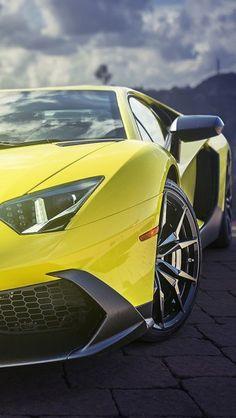 Yellow Lamborghini Aventador Supercar http://theiphonewalls.com/yellow-lamborghini-aventador-supercar/