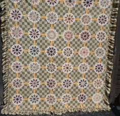 """1840's Gorgeous Compass Quilt Stunning Fabrics Most Tiny Stitches Ever 