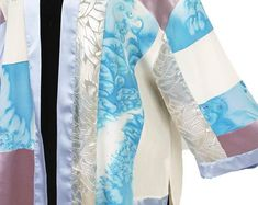 Shopping for an Easter Wedding:  Plus Size Kimono Jacket Wearable Art Sizes 26 - 32
