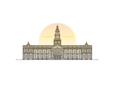 We've been working on creating some artwork for our recently improved office space. This is an illustration of the iconic Cape Town City Hall to represent and show some love for the beautiful city we live and work in.