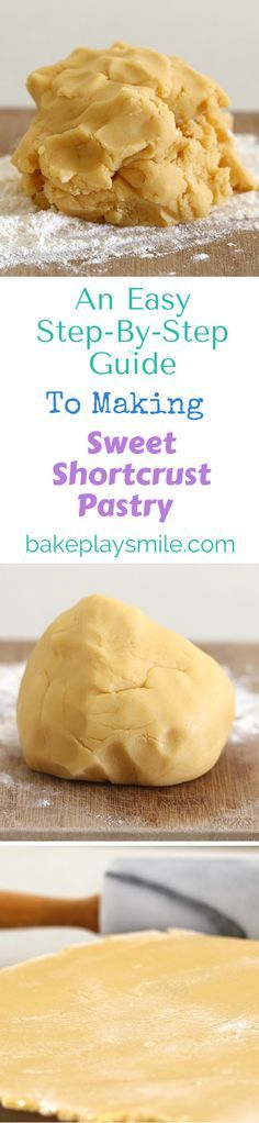 To Make Sweet Shortcrust Pastry This is my go-to guide for making sweet shortcrust pastry! It's so simple and never fails!This is my go-to guide for making sweet shortcrust pastry! It's so simple and never fails! Bread And Pastries, Sweet Pastries, Puff Pastries, Choux Pastry, Sweet Shortcrust Pastry Recipe, Pie Dessert, Dessert Recipes, Dinner Recipes, British Baking