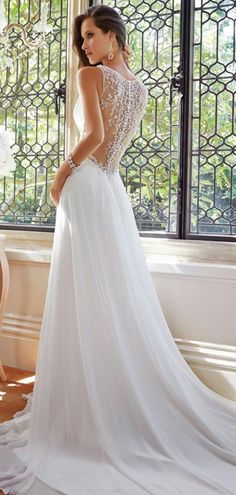 2015 Casamento Robe De A-line V-neck Chiffon Beaded Vintage Wedding Dresses Wedding Gown Bridal Dresses vestido de noiva Dream Wedding Dresses, Bridal Dresses, Wedding Gowns, Wedding Blog, Wedding Ideas, Bridesmaid Dresses, Sofia Tolli Wedding Dress, Lace Wedding, Formal Wedding