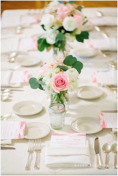 Table Decor at Watervale Inn Wedding | Rayan Anastor Photography | Arcadia MI Wedding Photographer | Victoria's Floral Design