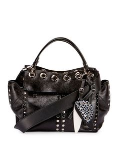 PROENZA SCHOULER Curl Studded Leather Top-Handle Bag, Black. #proenzaschouler #bags #shoulder bags #hand bags #leather #
