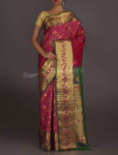 Rupa Wine Full Ornate Wedding Collection #GadwalRealZari #SilkSaree