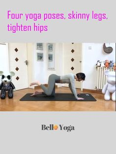 Beginner Yoga Workout, Gym Workout Videos, Gym Workout For Beginners, Fitness Workout For Women, Yoga Fitness, Gym Workouts, At Home Workouts, Pilates, Thigh Exercises