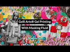 (2) Gelli Arts® Gel Printing With Masking Fluid by Marsha Valk - YouTube Gelli Arts, Gelli Plate Printing, Prints, Printmaking, Drawings, Projects, Painting, Inspiration, Sketches