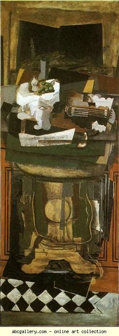 Georges Braque.  The Guéridon. c.1928. Oil and sand on canvas. Private collection Olga's Gallery.