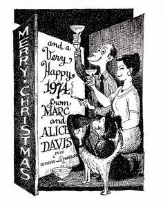 Marc Davis Christmas Card -  1973