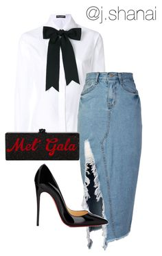"""""""Untitled #86"""" by jshanai on Polyvore featuring Dolce&Gabbana, storets and Christian Louboutin"""