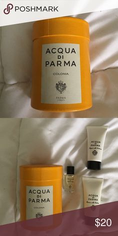 Aqua Di Parma gift set Aqua Di Parma gift set- .5ml Eau de Cologne/ 20ml bath gel/20ml lotion // made in Italy Aqua di Parma Makeup