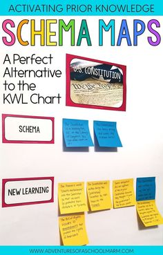 Schema Maps are AWESOME because they help students identify and correct misconceptions! I definitely prefer using them to KWL Charts. This post shares exactly how you can implement this strategy in your classroom to improve student learning and deepen their understanding!