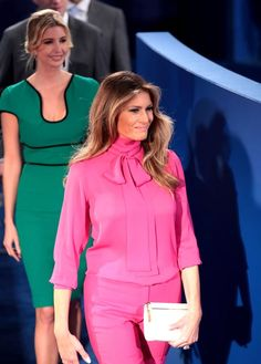 Melania Trump wore an $1,100 Gucci 'pussy-bow' shirt to the presidential debate on Sunday, October 9, days after husband Donald Trump's vulgar 2005 comments surfaced