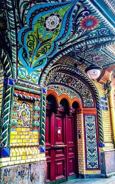 Time for some color and texture inspiration! These doors and entryways are filled with magic. Whether it's the color, the door knob detail, the rustic texture, the mystical decorations, or maybe… Cool Doors, Unique Doors, The Doors, Windows And Doors, Amazing Architecture, Art And Architecture, Renaissance Architecture, Islamic Architecture, Corner Garden