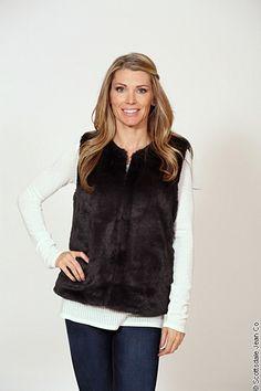 Joie Casia Vest $248.00 #sjc #scottsdalejeanco #fallfahion #winterfashion #joie #joieclothing #joiesoft #fauxfur #fauxfurvest