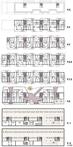 Co Housing, Social Housing, Apartment Layout, Apartment Plans, Architecture Plan, Residential Architecture, Landscape Plans, Modern House Plans, Plan Design