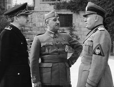 Ramon Serrano Suner, a former Spanish foreign minister and brother-in-law of late dictator Gen. Franco, seen at left with Gen. Franco, center, and Mussolini, right in this 1941 file photo taken in Bordighera, Italy. Each played their own part in the bloody 1936-39 Spanish Civil War.