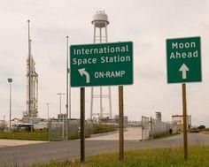 Signs posted outside launch Pad-OA at the NASA Wallops Flight Facility. Credit: NASA/Bill Ingalls.