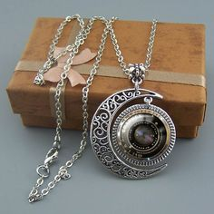 Free shipping,Camera necklace,Camera jewelry,Travel necklace,Silver Moon charm pendant,Unique Friendship Jewelry,Unisex necklace,Photography enthusiasts gift,Wholesale or retail