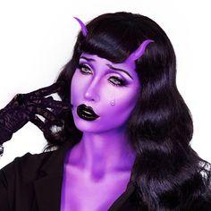 👿 - halloween makeup - Halloween MakeUp and Kostume Cool Makeup Looks, Creative Makeup Looks, Halloween Makeup Looks, Crazy Makeup, Pretty Makeup, Face Paint Makeup, Fx Makeup, Cosplay Makeup, Costume Makeup