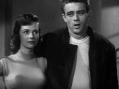 Natalie Wood and James Dean in a screen test for 'Rebel Without A Cause', 1955