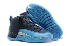 "http://www.getadidas.com/2017-kids-air-jordan-12-blue-navy-basketball-shoes-online-xis56xi.html 2017 KIDS AIR JORDAN 12 ""BLUE NAVY"" BASKETBALL SHOES ONLINE XIS56XI Only $79.00 , Free Shipping!"