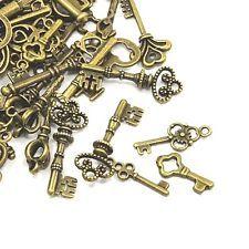 30 Grams Antique Bronze Tibetan Random Shapes & Sizes Charms (Key) HA09360